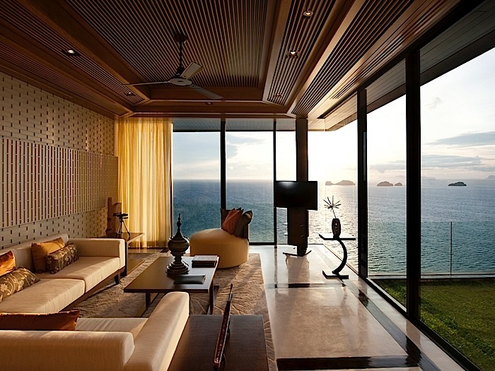 2 Bedroom Oceanview Pool Villa Living Room