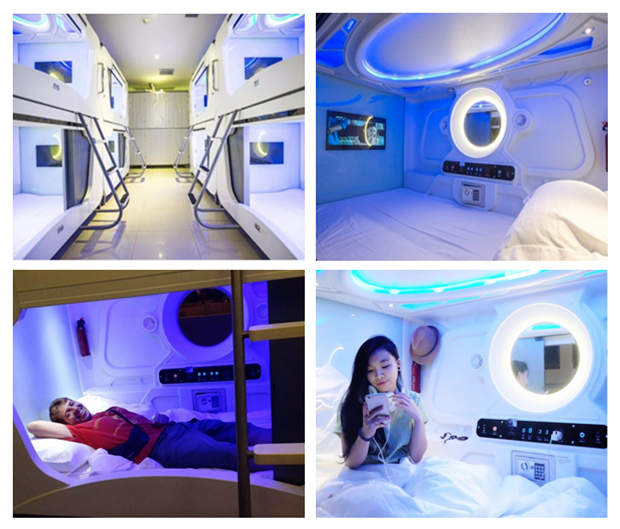 3. Time Capsule Hotel 时光太空舱酒店
