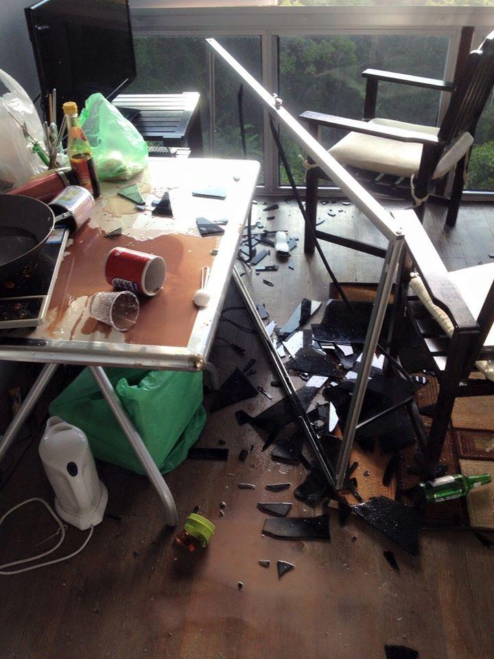 今天沙巴兰脑县(Ranau)发生地震,昆达山区某度假村状况4
