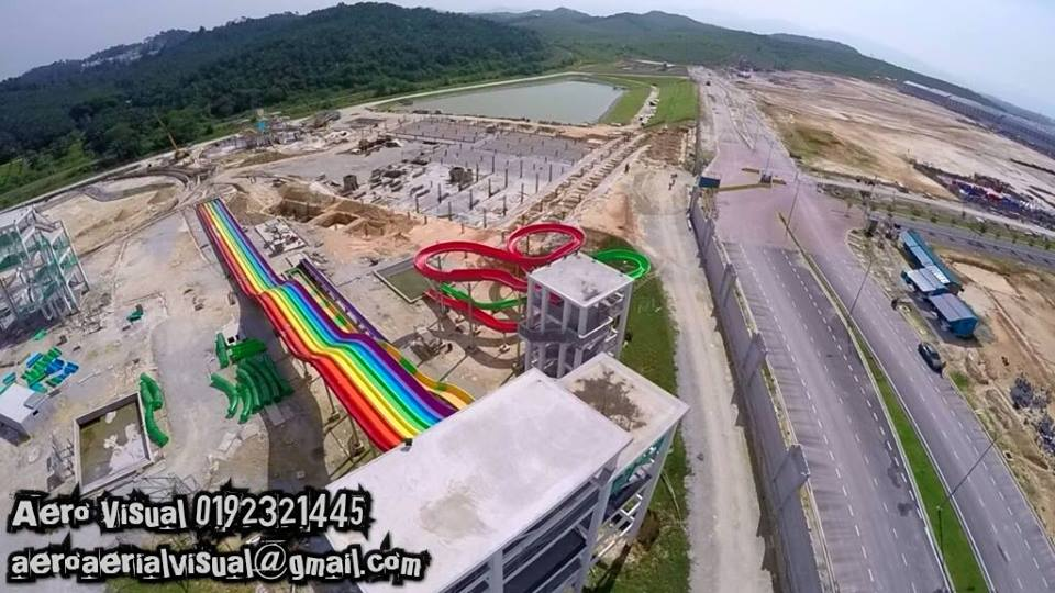 Water theme park baru under construction di Bangi5