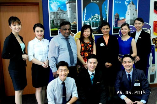 Successful students with Singapore Airlines