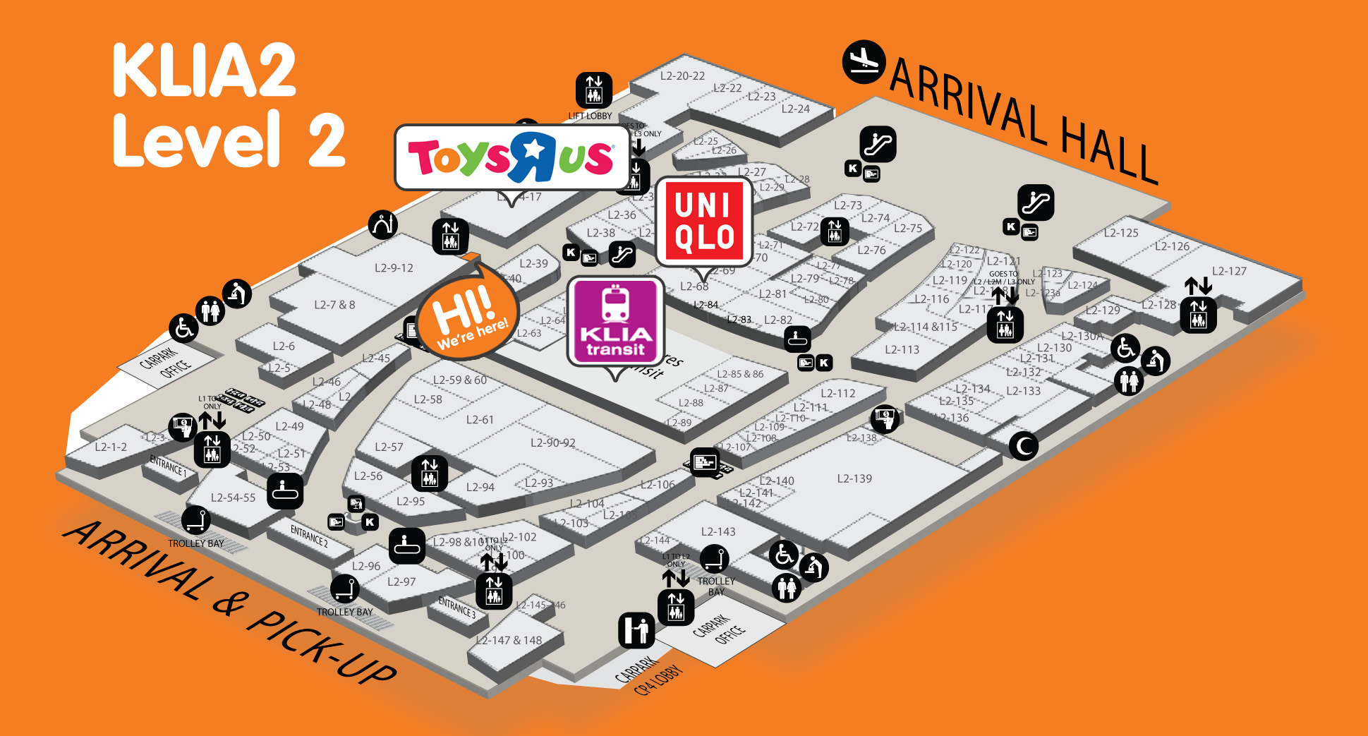 klia2 lay out map