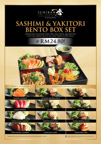 lunch set - sashimi & yakitori bento_副本