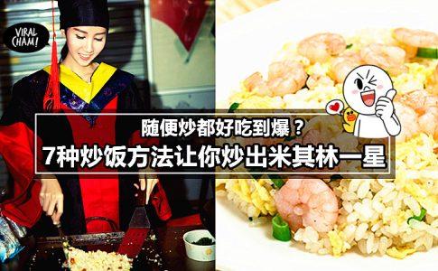 【7种无敌懒人炒饭食谱大全】虽然做法简单可是吃起来是超美味的,简直有米其林1星的水准哦! (っ˘ڡ˘Σ)