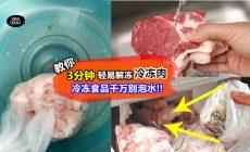 【解冻肉那么容易!!】不要再直接用水泡肉了! 冰箱刚拿出来的冻肉, 只需3分钟就可以完全解冻~