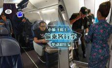 【坐在飞机里也要警惕!】大马网友飞机上遇贼~ 小偷伪装乘客在飞机上『这样偷行李』当场抓包!